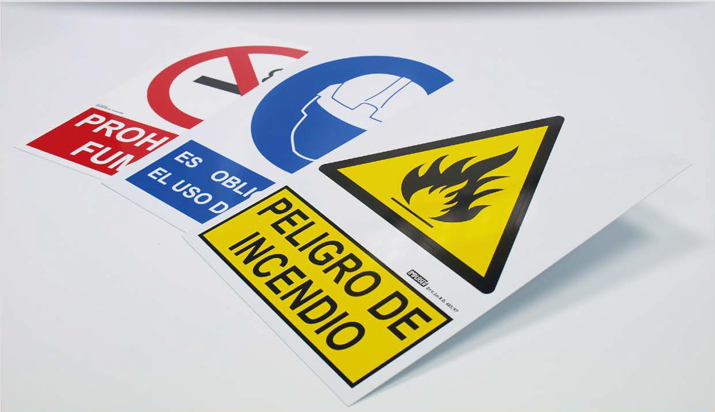Tűzvédelmi, munkavédelmi biztonsági jelek